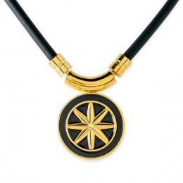 Earth Necklace Black×Gold