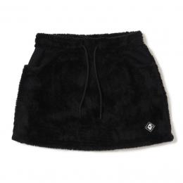 V12 FUR SKIRT BLACK