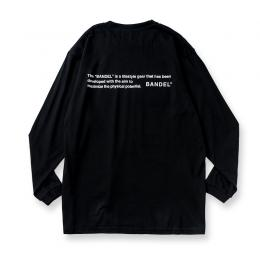 Long Sleeve T GHOST concept notes  Black×White