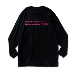 Long Sleeve T GHOST concept notes Black×Neon Pink