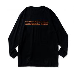 Long Sleeve T GHOST concept notes Black×NeonOrange