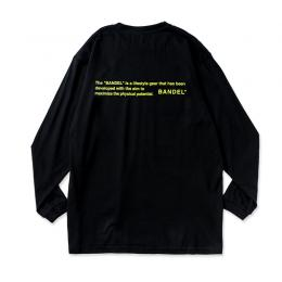 Long Sleeve T GHOST concept notes Black×NeonYellow