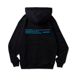 BANDEL Hoodie GHOST concept notes  Black×Neon Blue